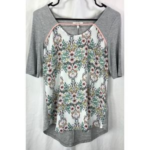 Maurices ribbed floral short sleeve top shirt 7290
